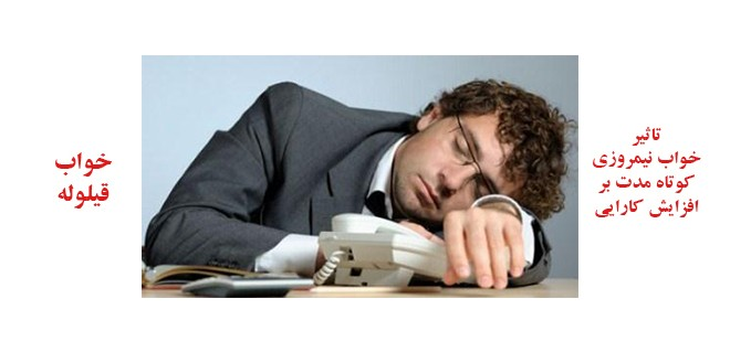 تاثیر خواب نیمروزی کوتاه مدت بر افزایش کارایی