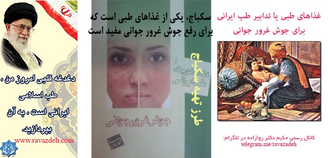 غذاهای طبی یا تدابیر طب ایرانی برای جوش غرور جوانی: سِکباج