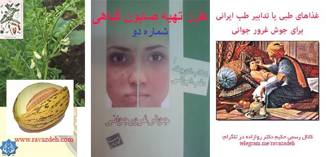 غذاهای طبی یا تدابیر طب ایرانی برای جوش غرور جوانی: صابون گیاهی ۲