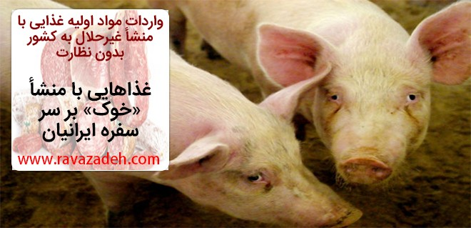 واردات مواد اولیه غذایی با منشأ غیرحلال به کشور بدون نظارت/ غذاهایی با منشأ «خوک» بر سر سفره ایرانیان