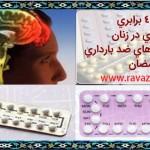 افزايش 4 برابري لخته مغزي در زنان با مصرف قرصهاي ضد بارداري در رمضان