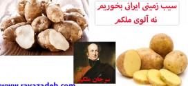سیب زمینی ایرانی بخوریم نه آلوی ملکم