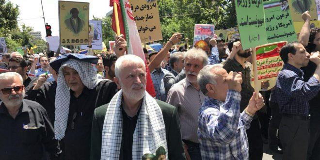 مصاحبه با حکیم دکتر روازاده در راهپیمایی روز قدس سال ۱۳۹۷ + گزارش تصویری