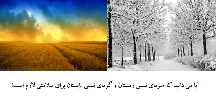 Photo of آیا می دانید که سرمای نسبی زمستان و گرمای نسبی تابستان برای سلامتی لازم است!