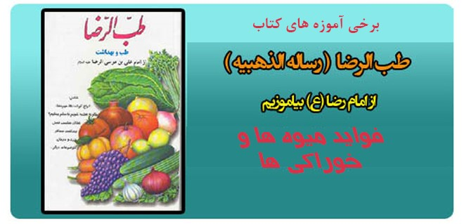 فواید میوه ها و خوراکی ها – برخی آموزه های کتاب طب الرضا – بخش نهم