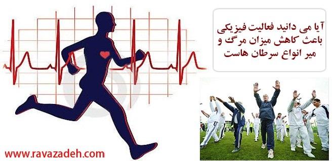 Photo of آیا می دانید فعالیت فیزیکی باعث کاهش میزان مرگ و میر انواع سرطان هاست