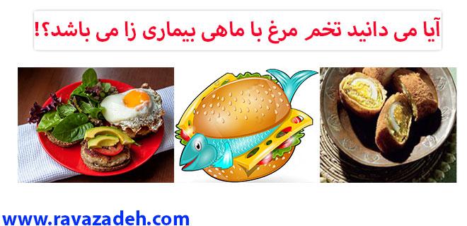 Photo of آیا می دانید تخم مرغ با ماهی بیماری زا می باشد؟! + فایل صوتی سخنرانی حکیم دکتر روازاده