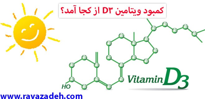 کمبود ویتامین D3 از کجا آمد؟