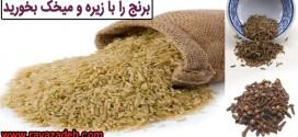 برنج را با زیره و میخک بخورید