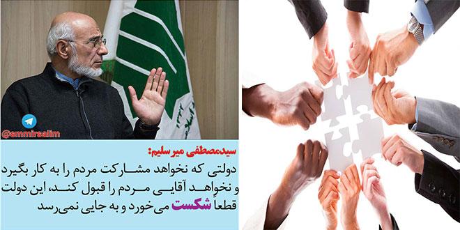 Photo of مهندس سید مصطفی میرسلیم: دولت از رقابت با مردم بپرهیزد