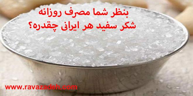 Photo of بنظر شما مصرف روزانه شکر سفید هر ایرانی چقدره؟