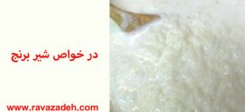 در خواص شیر برنج