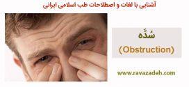 آشنایی با لغات و اصطلاحات طب اسلامی ایرانی:سُدَّه (Obstruction)