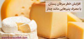 افزایش خطر سرطان پستان با مصرف پنیرهایی مانند چدار