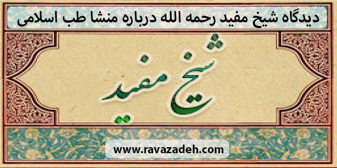 دیدگاه شیخ مفید رحمه الله درباره منشا طب اسلامی