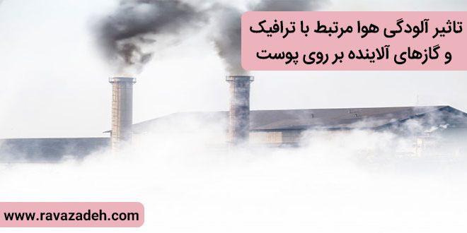 تاثیر آلودگی هوا مرتبط با ترافیک و گازهای آلاینده بر روی پوست