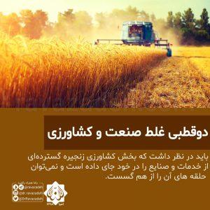 دوقطبی غلط صنعت و کشاورزی