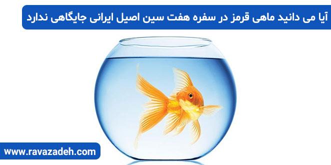 Photo of آیا می دانید ماهی قرمز در سفره هفت سین اصیل ایرانی جایگاهی ندارد