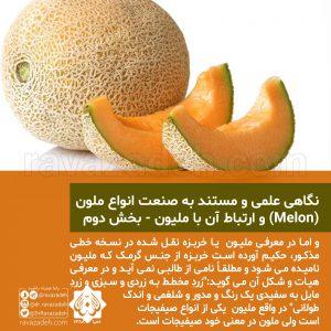 نگاهی علمی و مستند به صنعت انواع ملون (Melon) و ارتباط آن با ملیون - بخش دوم