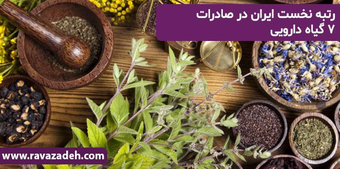 Photo of رتبه نخست ایران در صادرات ۷ گیاه دارویی