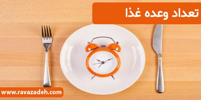 Photo of تعداد وعده غذا